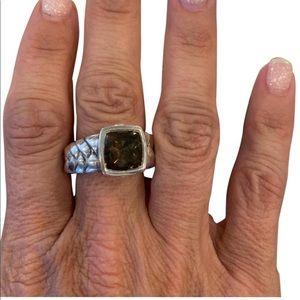 Scott Kay silver Smokey Quartz ring
